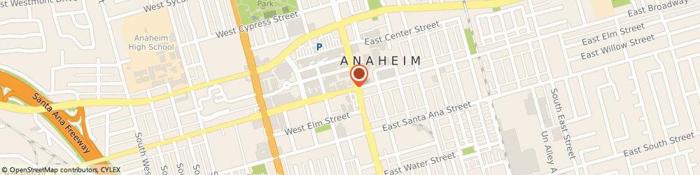 Route/map/directions to Post Office - Federal, 92815 Anaheim, 113 WEST BROADWAY