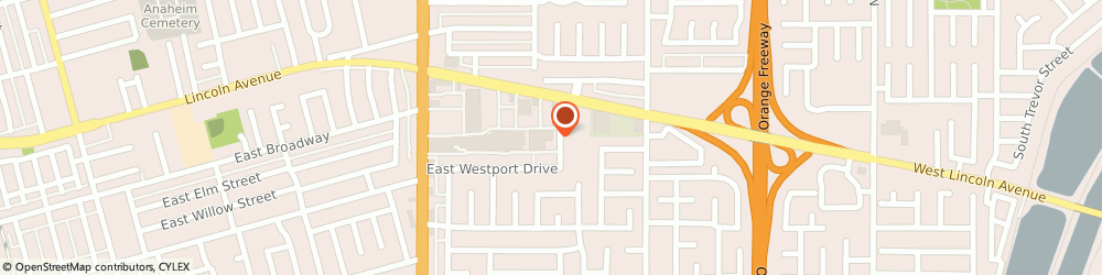 Route/map/directions to Post Office - Sunkist, 92816 Anaheim, 2320 EAST LINCOLN AVENUE