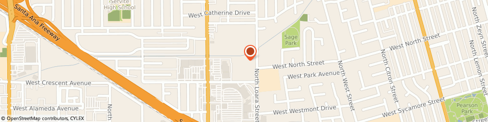 Route/map/directions to Post Office - Anaheim, 92803 Anaheim, 701 NORTH LOARA STREET