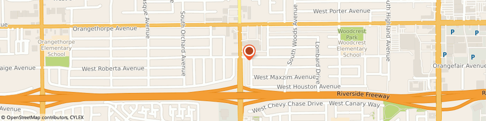Route/map/directions to Liberty Tax Service, 92832 Fullerton, 1430 S Euclid St