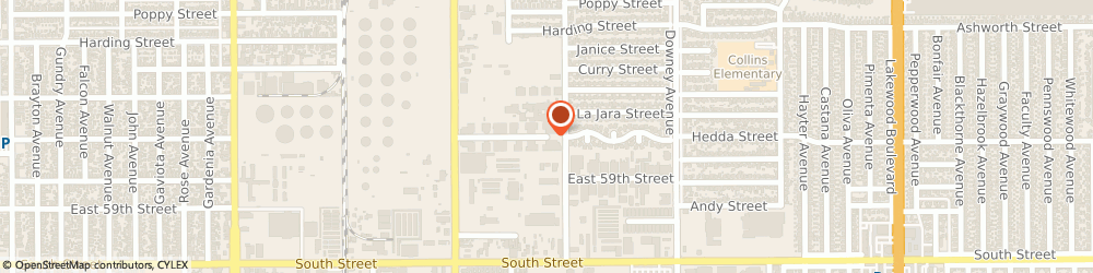 Route/map/directions to RBH Aerospace Inc, 90805 Long Beach, 2708 Seaboard Lane