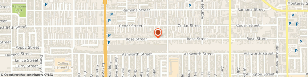 Route/map/directions to Vic Clar Antique, 90706 Bellflower, 9313 ROSE STREET