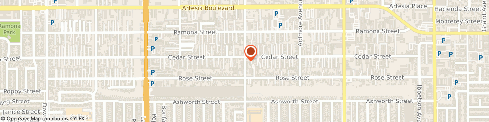 Route/map/directions to New Creation Builders, 90706 Bellflower, 17809 Clark Ave