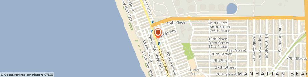 Route/map/directions to North End Caffe, 90266 Manhattan Beach, 3421 HIGHLAND AVENUE
