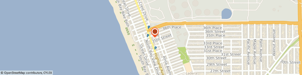 Route/map/directions to Two Guns Espresso - North Manhattan, 90266 Manhattan Beach, 3516 Highland Ave