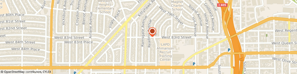 Route/map/directions to Ryder Truck Rental and Leasing, 90301 Inglewood, 5366 WEST 83D