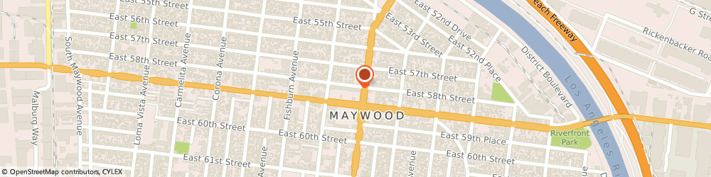 Route/map/directions to Subway, 90270 Maywood, 4455 E. Slauson Ave.