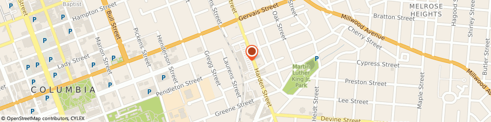 Route/map/directions to Bank of America, 29205 Columbia, 1001 HARDEN ST