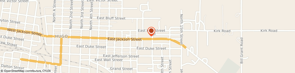 Route/map/directions to Pizza Hut, 74743 Hugo, 1109 E Jackson St