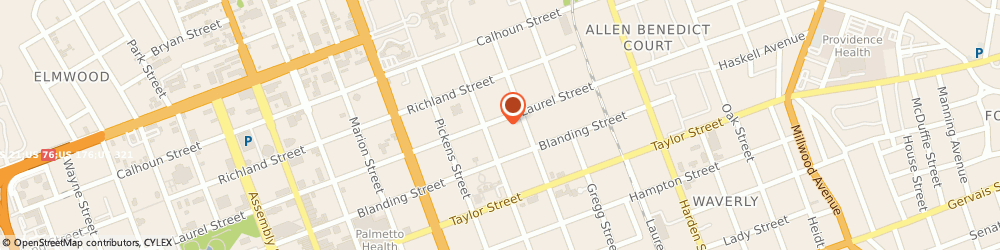 Route/map/directions to Hair Loss Control Clinic (HLCC) at Capital Plastic Surgery, 29201 Columbia, 1708 Laurel St.