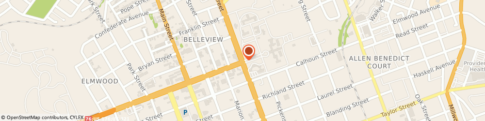 Route/map/directions to Post Office - State Hospital, 29201 Columbia, 2100 BULL STREET