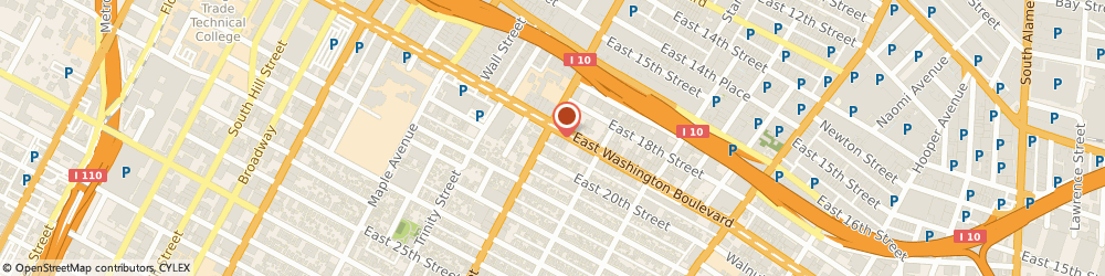 Route/map/directions to Little Caesars Pizza, 90011 Los Angeles, 1900 South San Pedro Street
