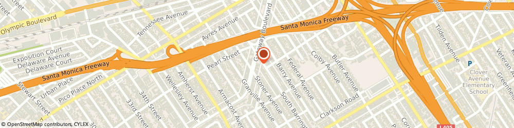 Route/map/directions to 7-Eleven, 90064 Los Angeles, 2541 S BARRINGTON AVE