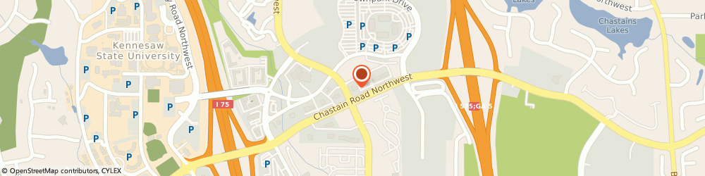 Route/map/directions to Chick-fil-A, 30144 Kennesaw, 600 Chastain Rd NW Ste 100