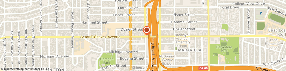 Route/map/directions to Shell, 90022 Los Angeles, 4357 EAST CESAR E CHAVEZ AVENUE