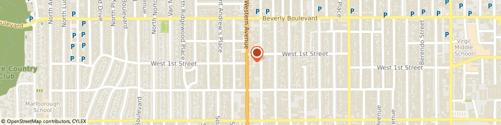 Route/map/directions to U-Haul Co., 90004 Los Angeles, 116 S WESTERN AVE