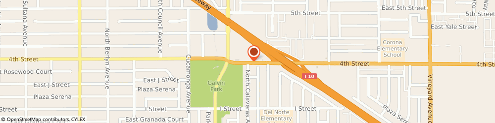 Route/map/directions to Little Caesars Pizza, 91764 Ontario, 1375 East 4Th Street