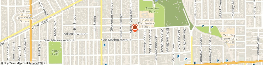 Route/map/directions to Citibank, 91801 Alhambra, 1 W. Bay State St
