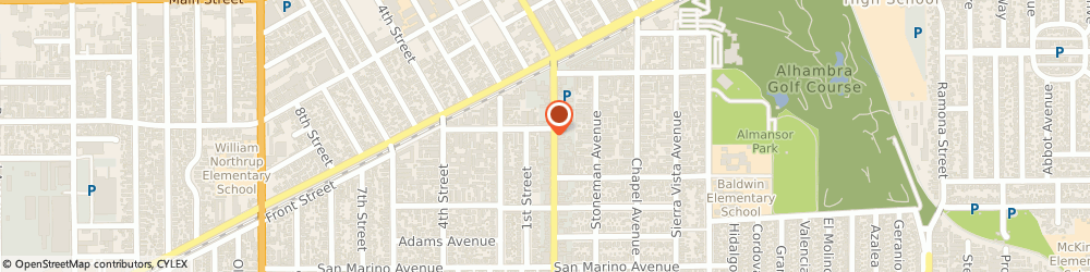 Route/map/directions to Law Offices Of Frank C Chang, 91801 Alhambra, 801 S GARFIELD AVE