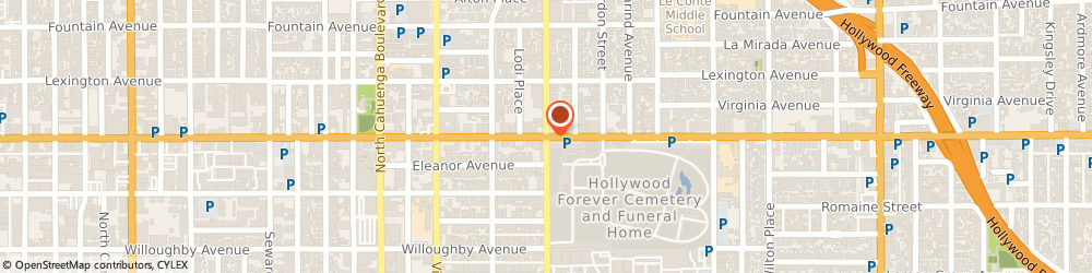 Route/map/directions to Eastman Kodak Company - Engineering & Sales, Motion Picture & Audiovisual Products, Order Service, 90038 Los Angeles, 6706 Santa Monica Blvd