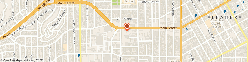 Route/map/directions to Atm Great Western Bank, 91801 Alhambra, 1910 W Main St