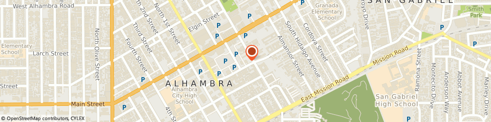 Route/map/directions to Atm Great Western Bank, 91801 Alhambra, 123 S Chapel Ave