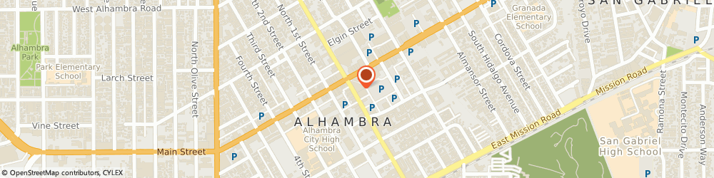 Route/map/directions to Bank of the West, 91801 Alhambra, 2 S Garfield Ave