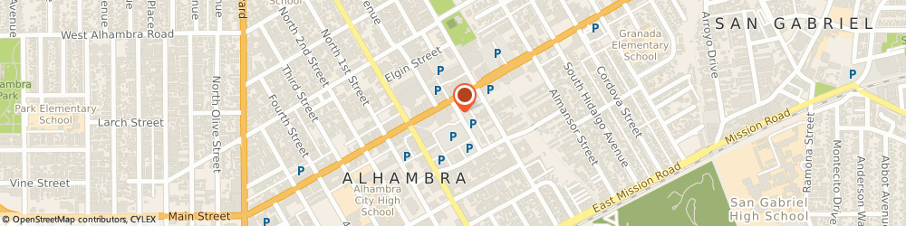 Route/map/directions to Bank of America, 91801 Alhambra, 160 E MAIN ST