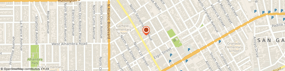 Route/map/directions to Parish Of Holy Trinity & St Benedict Epscpl Anglcn, 91801 Alhambra, 412 NORTH GARFIELD AVENUE