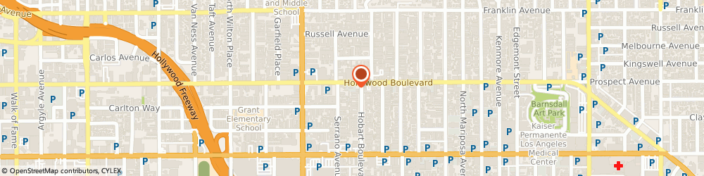 Route/map/directions to Sizzler Usa Restaurant, 90027 Los Angeles, 5310 HOLLYWOOD BOULEVARD