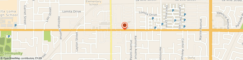 Route/map/directions to Slim and Tone, 91730 Rancho Cucamonga, 9795 BASELINE ROAD