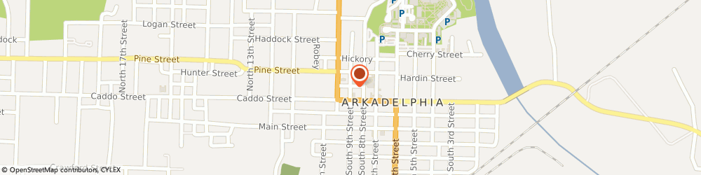 Route/map/directions to First United Methodist Church Of Arkadelphia, 71923 Arkadelphia, 107 NORTH 9TH STREET