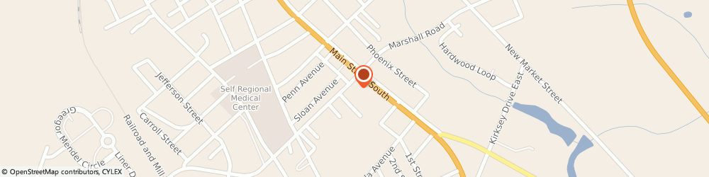 Route/map/directions to Rite Aid, 29646 Greenwood, 1400 Main Street South