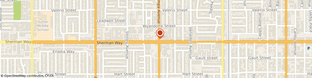 Route/map/directions to Wendy's, 91335 Reseda, 19317 Sherman Way