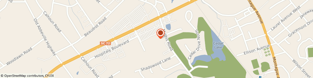Route/map/directions to Domino's Pizza, 29649-1404 Greenwood, 515 Bypass 72 NW