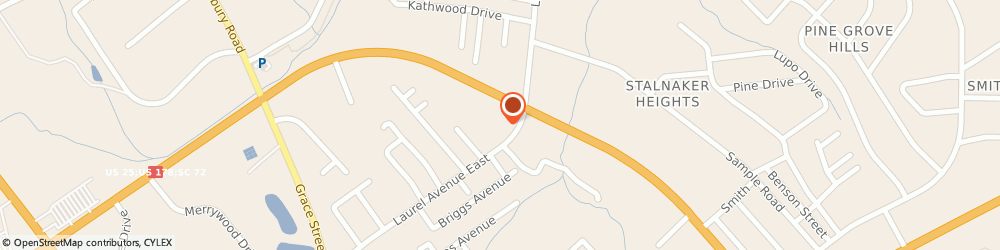 Route/map/directions to Food Lion, 29646 Greenwood, 1605-72 By Pass East