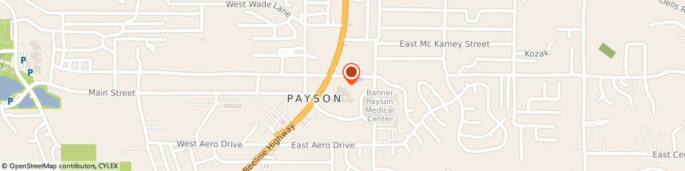 Route/map/directions to Payson Care Center, 85541 Payson, 107 E. Lone Pine Drive