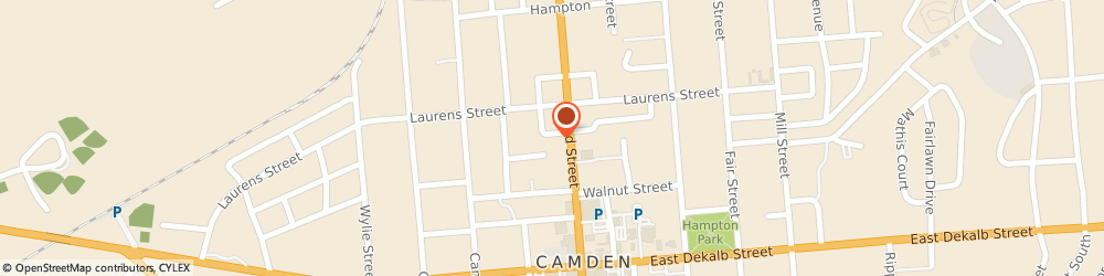 Route/map/directions to HANGER, 29020 Camden, 1303 Monument Square