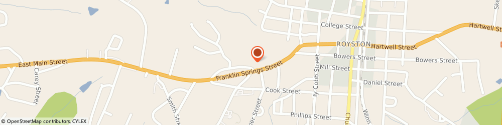 Route/map/directions to STATE FARM Bob Hollingsworth, 30662 Royston, 20 Franklin Springs Circle, Po Box 117