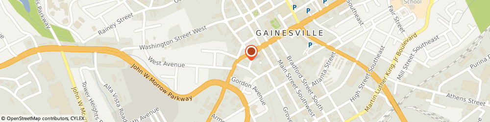 Route/map/directions to BB&T, 30501 Gainesville, 455 Jesse Jewell Pkwy SW