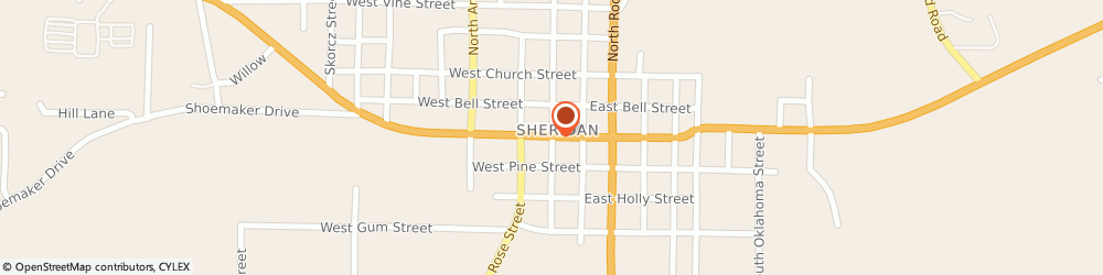 Route/map/directions to Safeco Insurance Agent, 72150-2436 Sheridan, 107 S Oak St