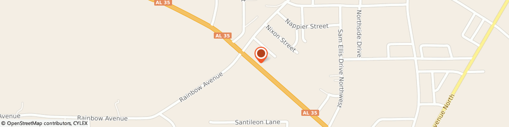 Route/map/directions to First Federal Bank, 35986 Rainsville, 960 Main St W
