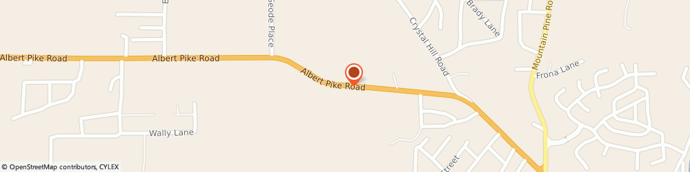 Route/map/directions to Hot Springs Radiator, 71913 Hot Springs National Park, 3483 Albert Pike Rd