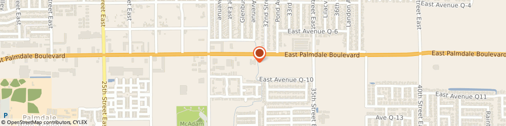 Route/map/directions to a v Traffic School, 93550 Palmdale, 3166 E PALMDALE BLVD # 119