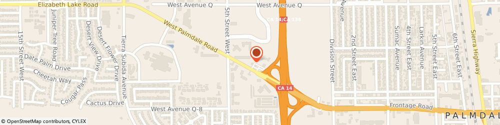 Route/map/directions to DEL TACO, 93551 Palmdale, 421 W Palmdale Blvd