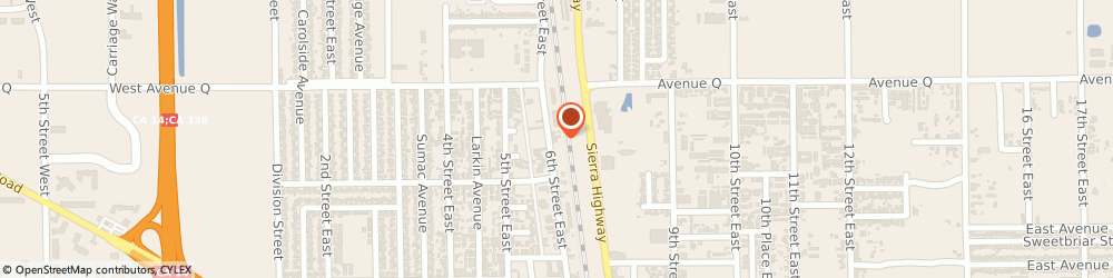 Route/map/directions to Aaa Saw & Small Engine Service, 93550 Palmdale, 38644 6TH STREET EAST