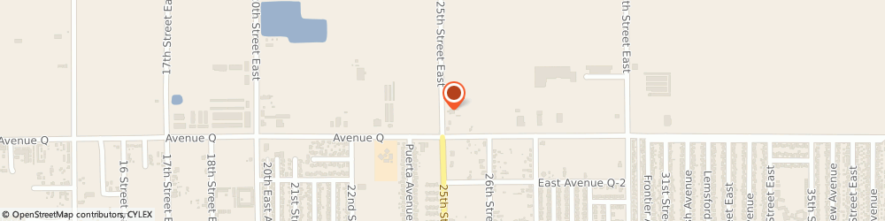 Route/map/directions to Rt Electric, 93550 Palmdale, 38832 25TH STREET EAST