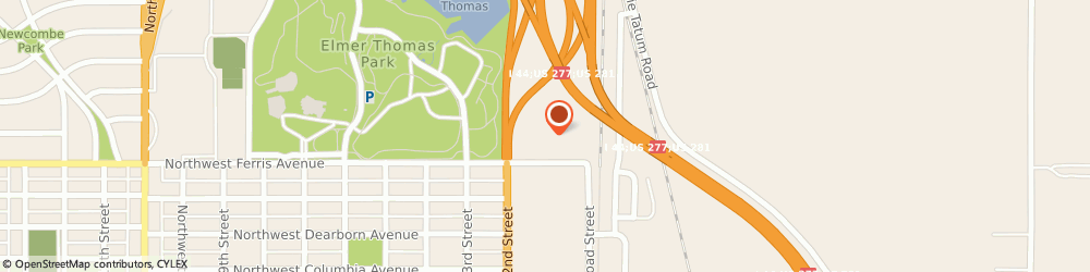 Route/map/directions to Ramada Inn, 73507 Lawton, 601 NW 2ND ST