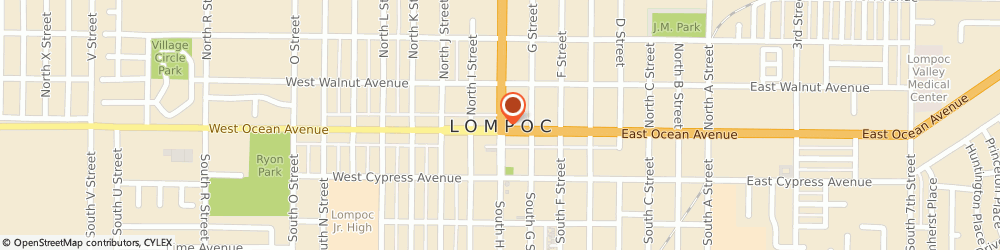 Route/map/directions to Amtrak Lompoc, CA (LOM), 93436 Lompoc, 111 South I Street, Lompoc Visitor's Center