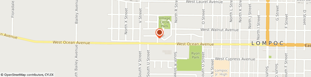 Route/map/directions to Hometown Carpet Care, 93436 Lompoc, 105 N T St